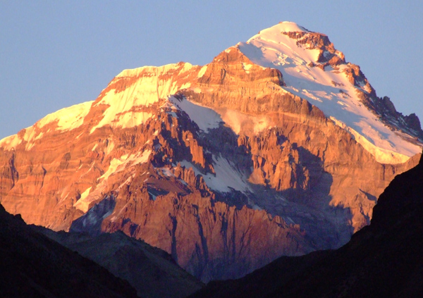 Aconcagua at sunrise.