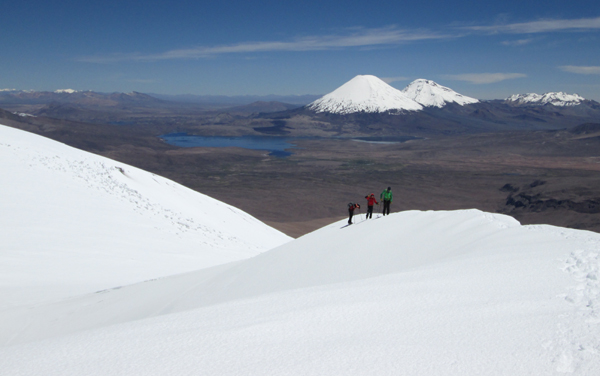Approaching the summit of Guallatiri on our February 2015 expedition