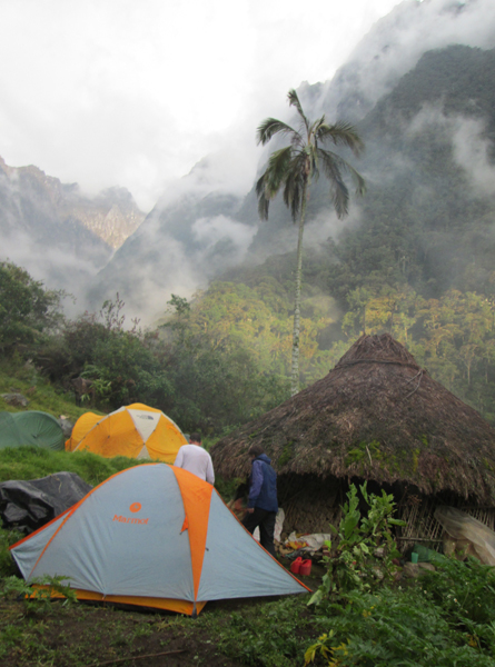 Rainforest camp at 2300m in the Sierra Nevada de Santa Marta.