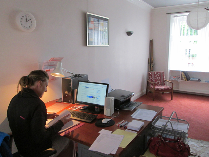 Inside the ANDES office.