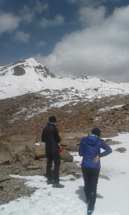 Approaching the summit of Nevado Mismi, at 5400m.